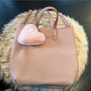 American Eagle soft leather crossbody light pink